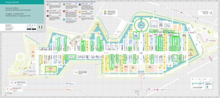 Mappa EXPO 2015 - EXPO 2015 Map