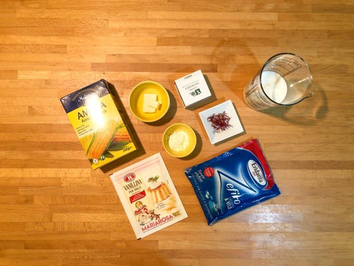 Gelato allo zafferano - Ingredienti latte condensato