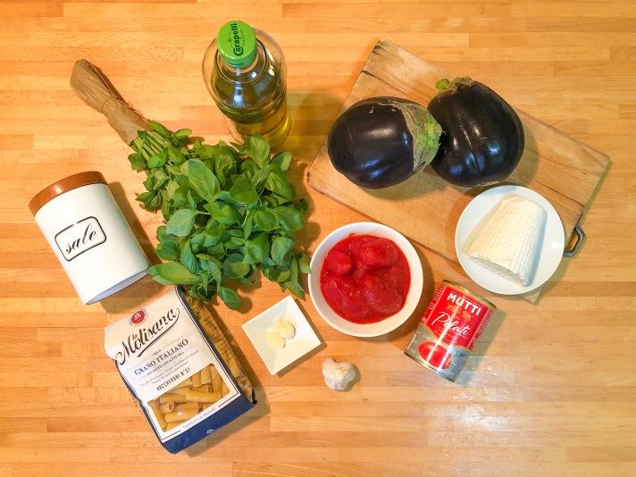 Pasta alla Norma - Ingredienti